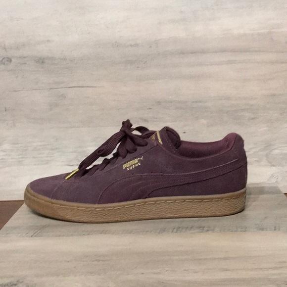 Puma Shoes | Suede Burgundy Womens 8